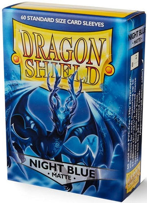 Dragon Shield Matte Night Blue Sleeves 60