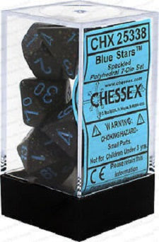 Chessex 7 Dice Speckled Blue Stars Dice | Game Master's Emporium (The New GME)