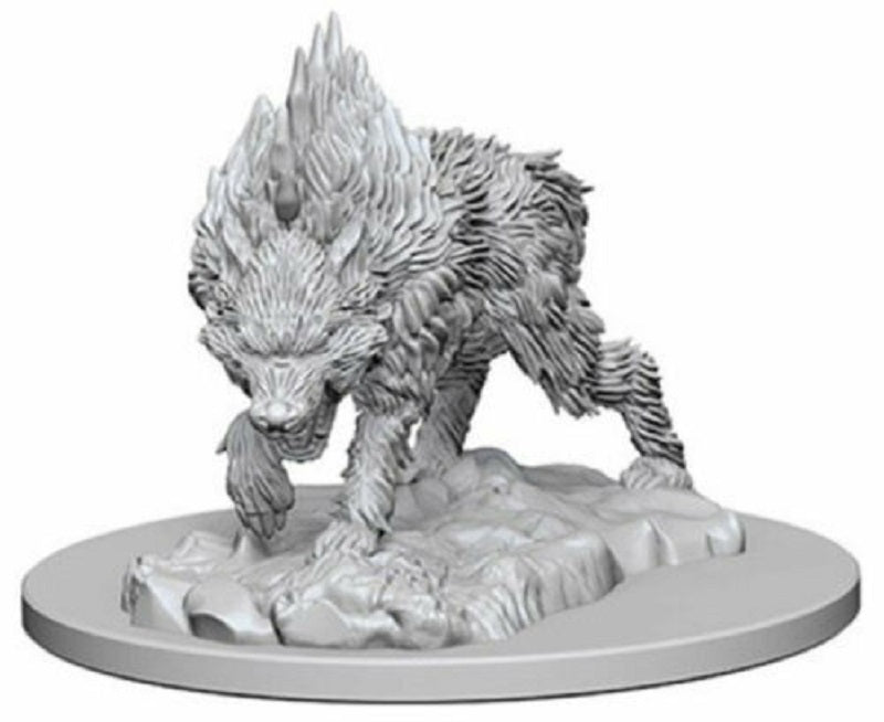D&D Mini Direwolf