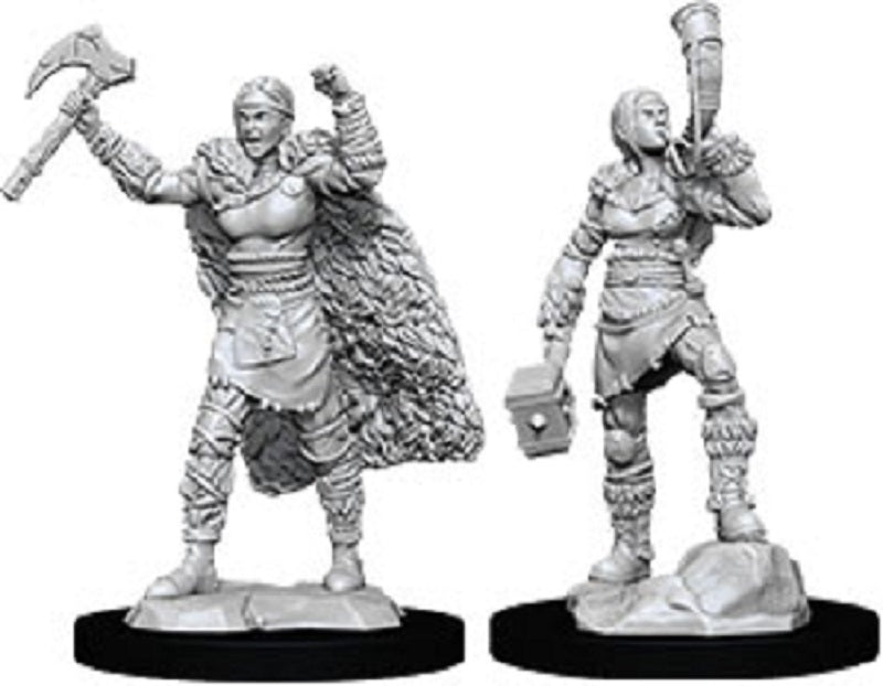 D&D Mini Human Female Barbarian