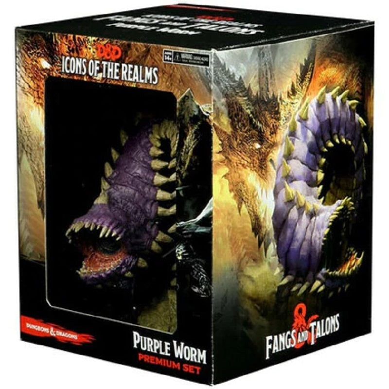 D&D Mini  Icons of the Realm Purple Worm Premium Set