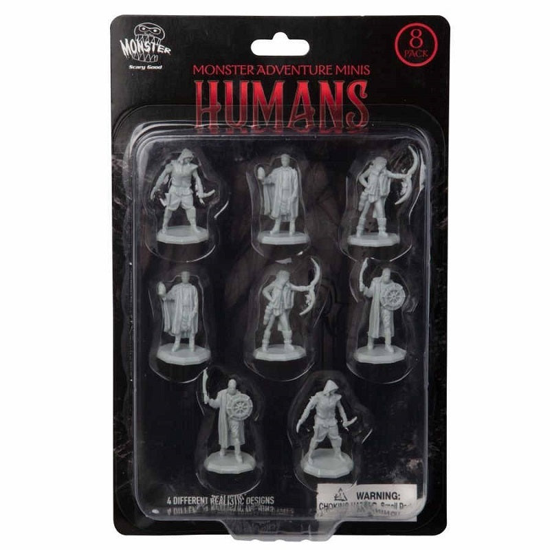 D&D Mini Bandits (Humans) 8PC Set