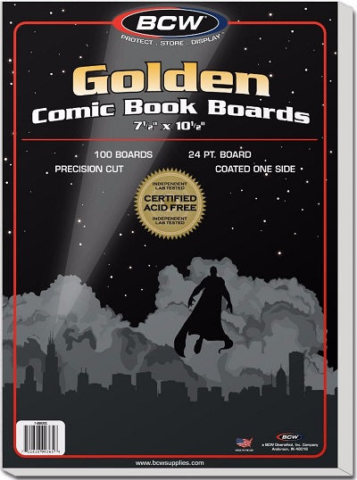 "Golden Comic Book Boards 100  7 3/4"" x 10 1/2"""