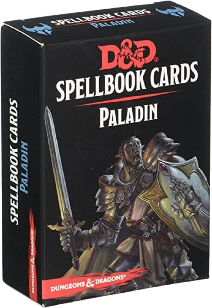 D&D Dungeons & Dragons Paladin Spellbook Cards