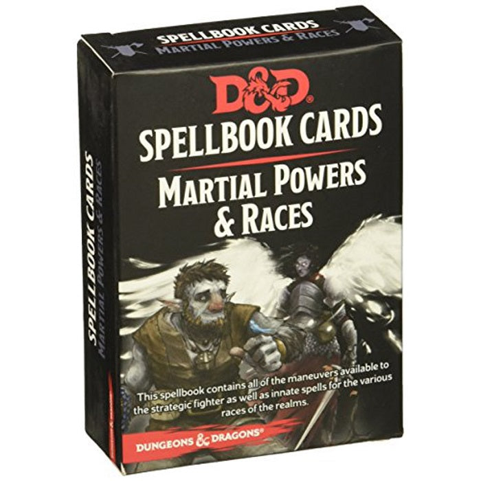 D&D Dungeons & Dragons Martial Powers & Races Spellbook Cards
