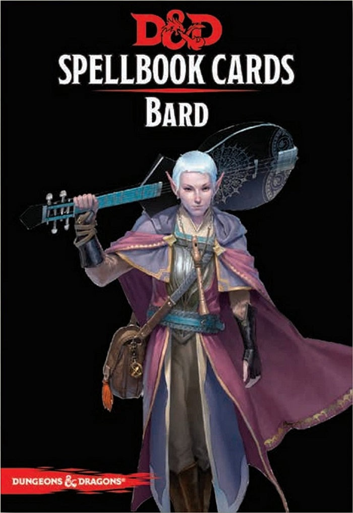 D&D Dungeons & Dragons Bard Spellbook Cards