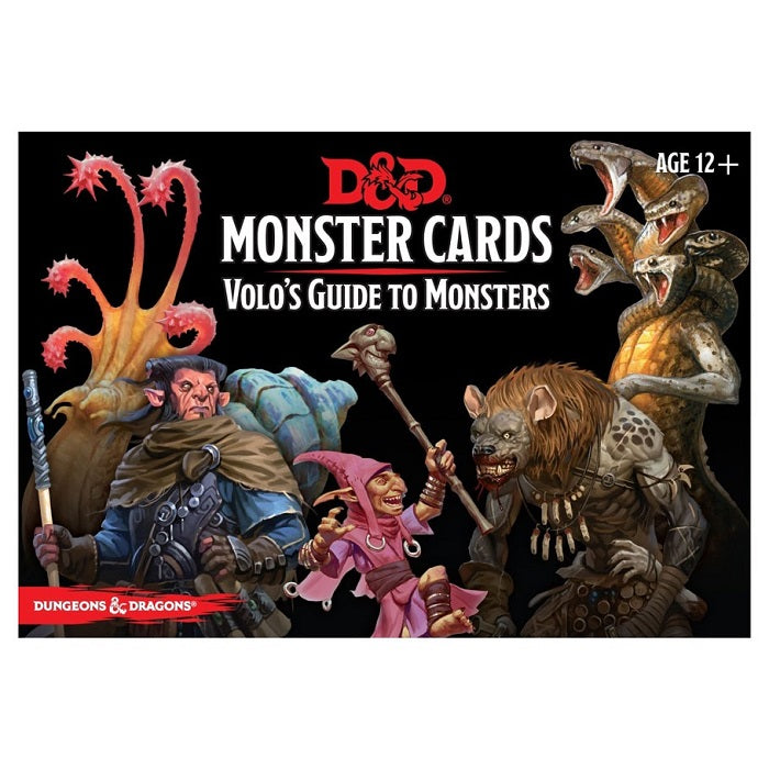 D&D Dungeons & Dragons Volo's Guide to Monsters Cards