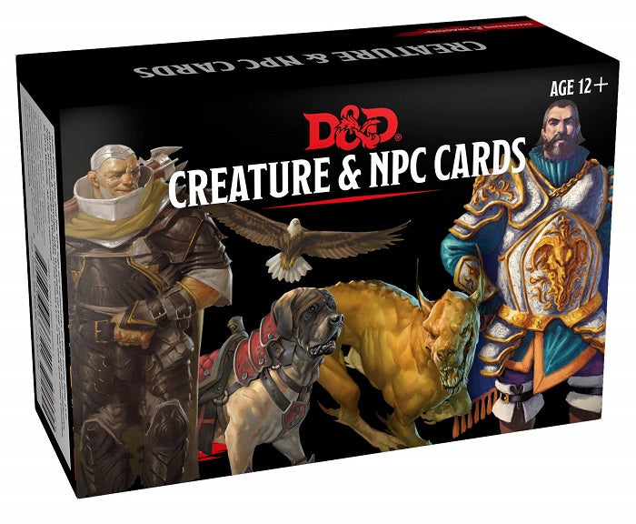 D&D Dungeons & Dragons Creature & NPC Cards