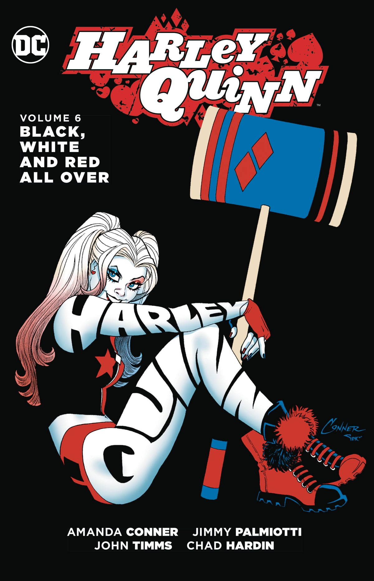 HARLEY QUINN TP VOL 06 BLACK WHITE & RED ALL OVER | Game Master's Emporium (The New GME)