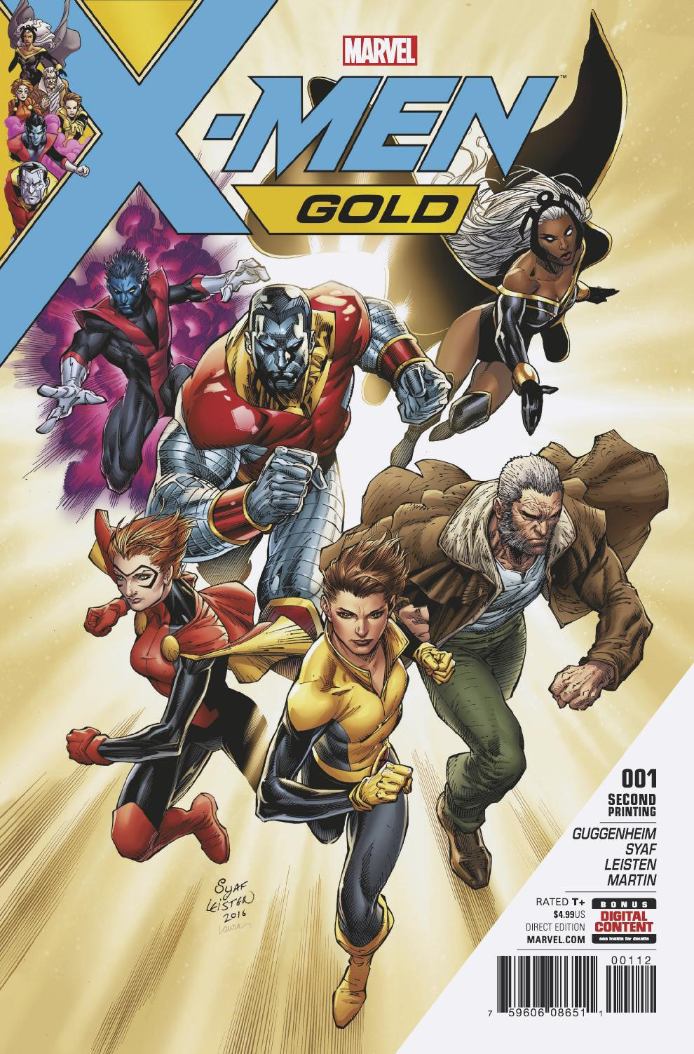 X-MEN GOLD #1 SYAF 2ND PTG VAR