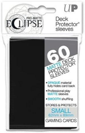 Eclipse Deck Protector Black Matte Card Sleeves 60 Small Size