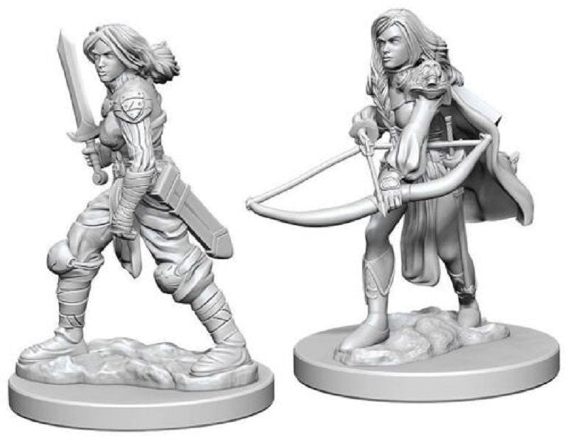 D&D Mini Human Female Fighter