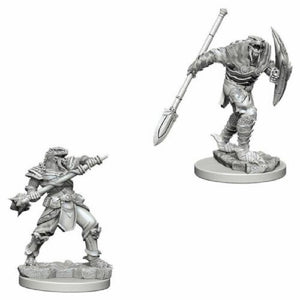 D&D Mini Dragonborn Fighter with Spear