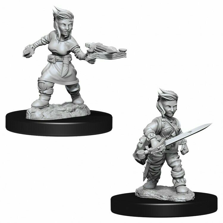 D&D Mini Halfling Female Rogue