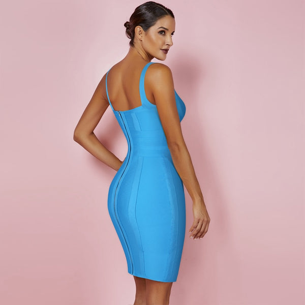 Spaghetti Strap Summer Sexy Women Bandage Dress - The Star Fashions