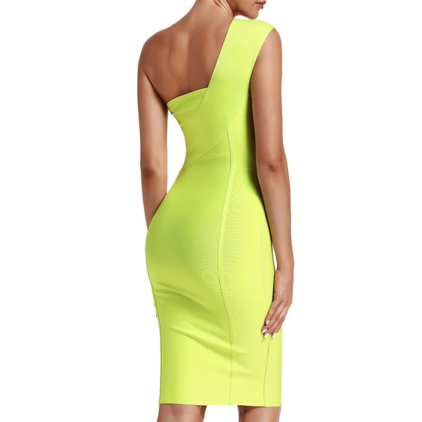Celebrity Bodycon One Shoulder Evening Party Dress - The Star Fashions