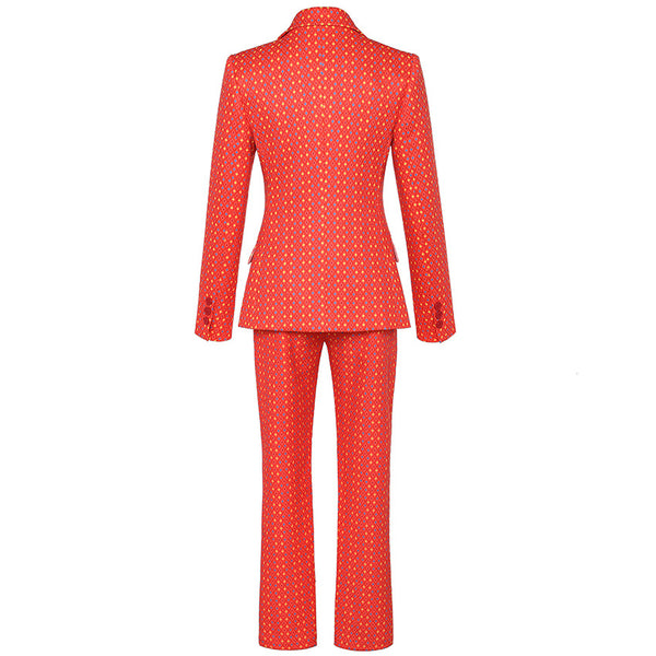 Deep Plunge 2 Piece Sets Knitted Power Outfit - The Star Fashions