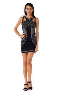 TSF Babe Sexy Halter Rayon Bodycon Bandage Dress - The Star Fashions