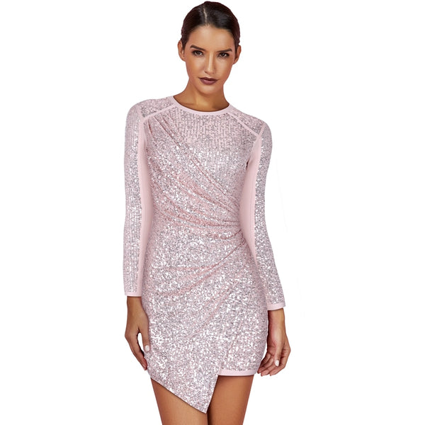 High Fashion New Sexy Sequined Bandage Dress - The Star Fashions