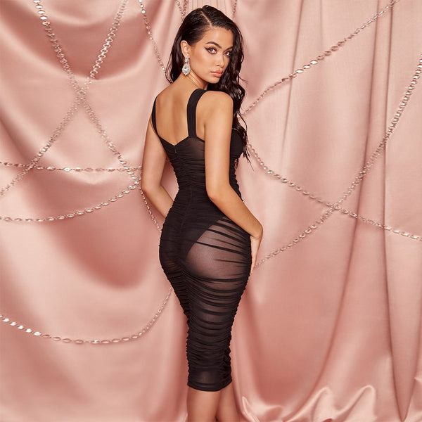 Sassy Summer Black See Through Bandage Dress - The Star Fashions