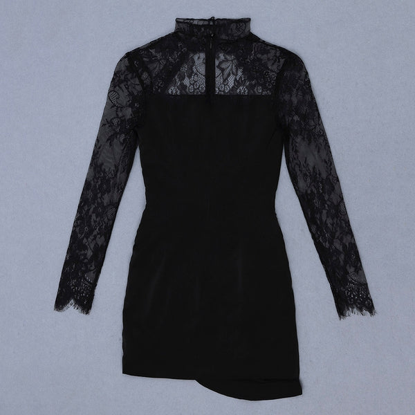 Drinks On Me New Sexy Lace Long Sleeve Bodycon Dress - The Star Fashions