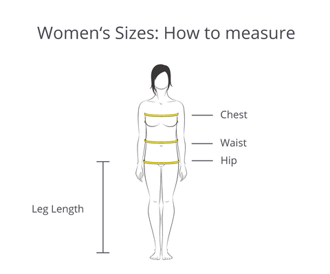 Women's Sizes: How to measure