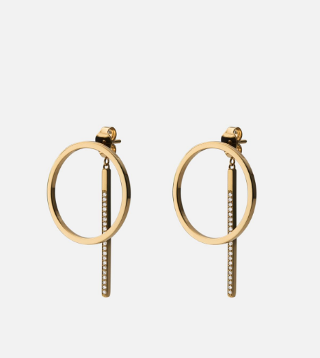 Load image into Gallery viewer, Miansai Cora Earrings, Gold Vermeil w/ White Sapphires, Polished