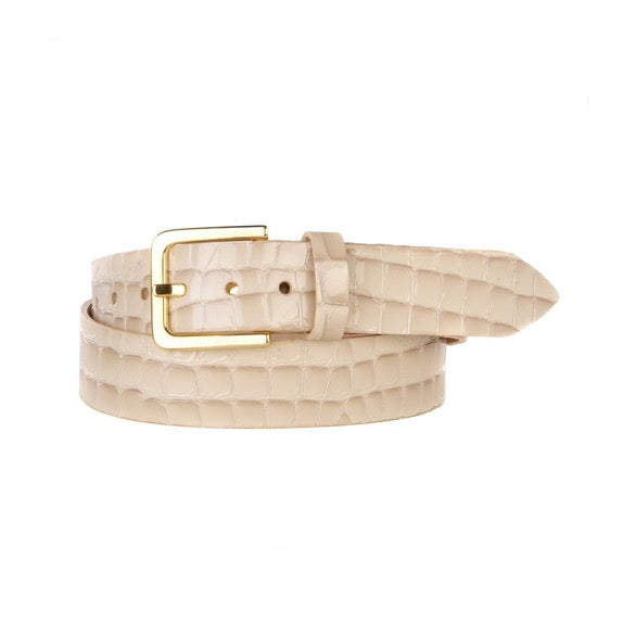 BRAVE Leather Lumisi Pearl Croc Belt