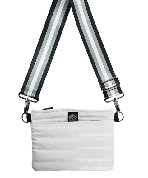 Load image into Gallery viewer, Think Royln Bum Bag/Crossbody White Patent