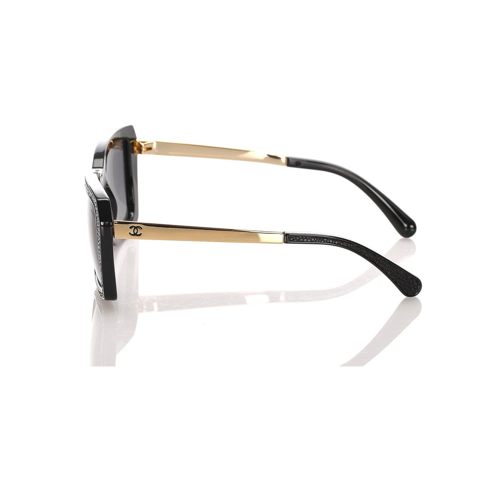 Load image into Gallery viewer, Chanel Black Square Tinted Sunglasses Polarized