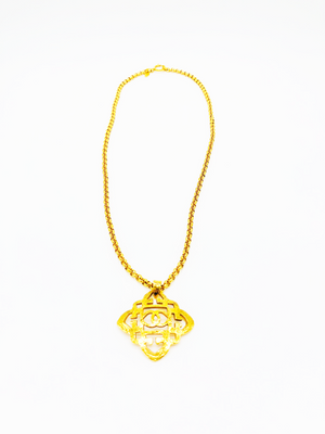 Load image into Gallery viewer, Chanel Vintage Cut Out Floral Pendant Necklace