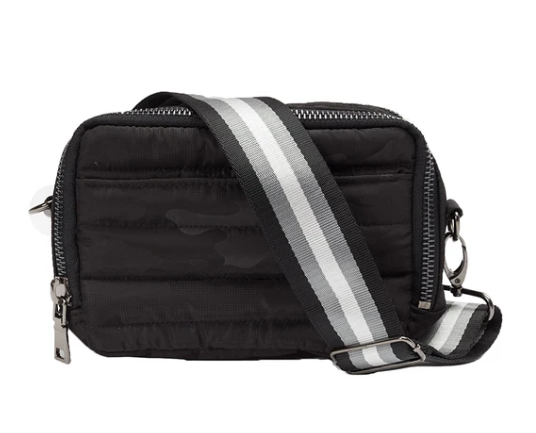 Think Royln Diva Double Zip Bag in Black Camo