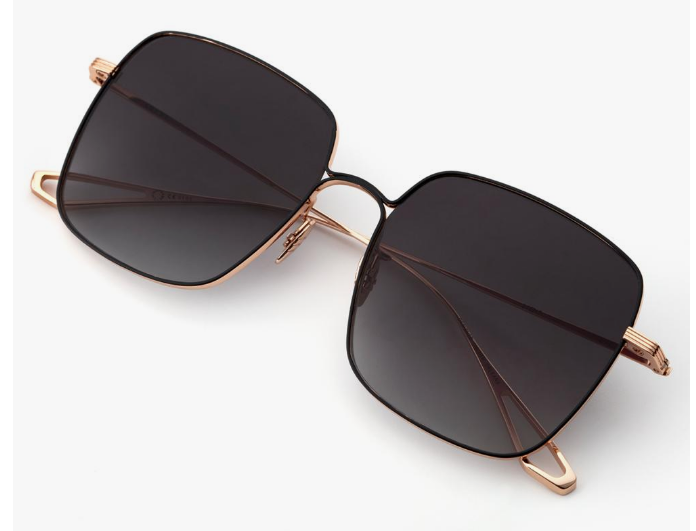 Load image into Gallery viewer, Krewe Eve 18K Rose Gold + Matte Black Titanium