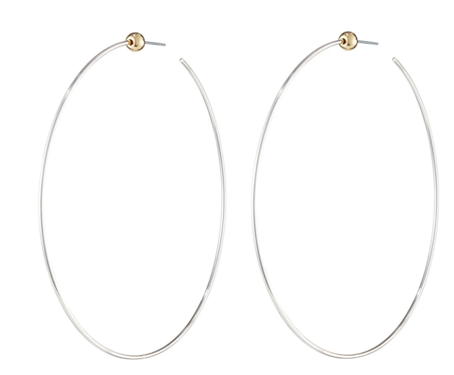 Jenny Bird Icon Hoops Medium Rhodium/Gold