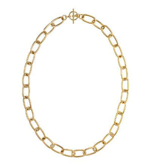Load image into Gallery viewer, Janis Savitt  NK-1065G - Oval Link Toggle Necklace - Gold