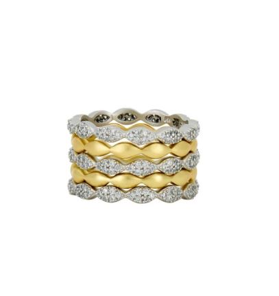 Freida Rothman Layers Of Armor 5 Stack Ring
