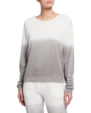 Load image into Gallery viewer, Majestic Filatures Cotton Terry Ombre L/S Pullover Crew Neck Top