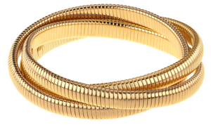 Janis Savitt High Polished Triple Cobra Bracelet
