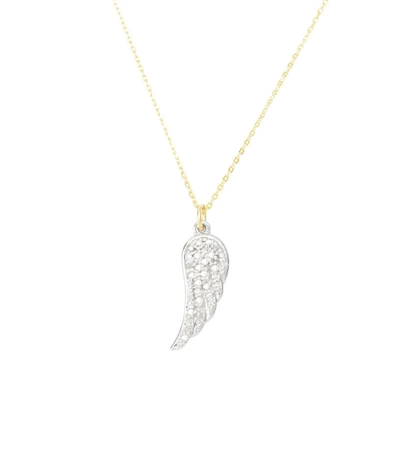 La Soula Single Wing Diamond Gold/Silver Necklace 20""