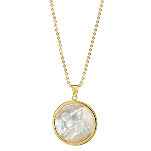 ASHA Aries Zodiac Classic Mother of Pearl Pendant