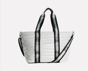 Load image into Gallery viewer, Think Royln Wingman Bag in White Patent