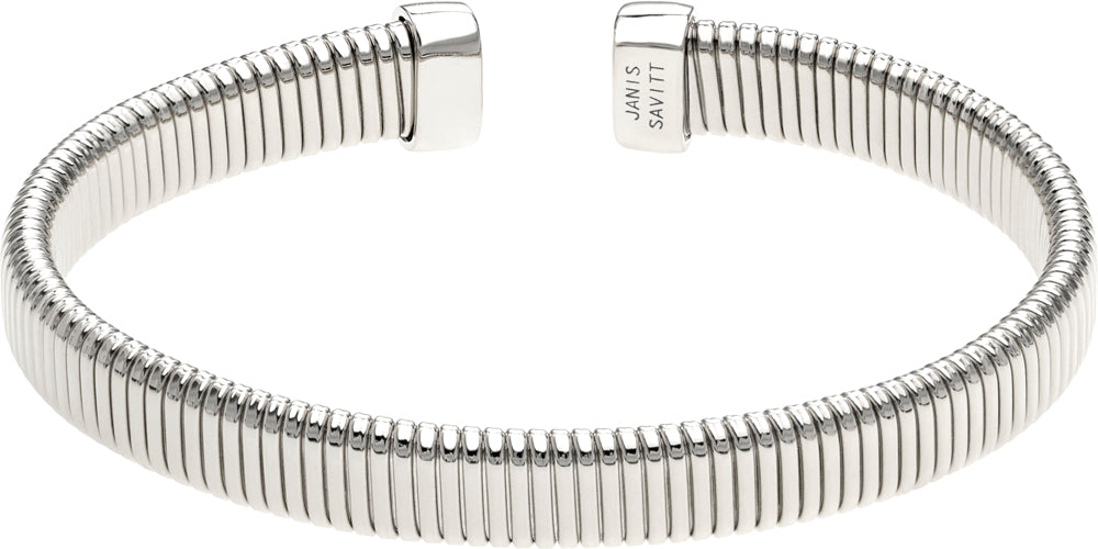 Janis Savitt Open Small Cobra Cuff Rhodium