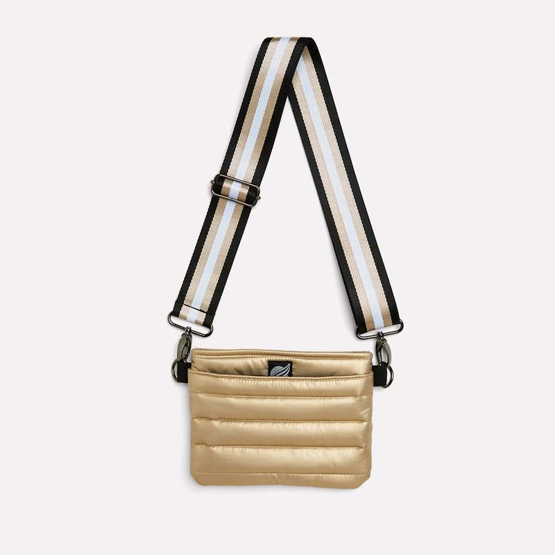 Load image into Gallery viewer, Think Royln Bum Bag/Crossbody Pearl Gold