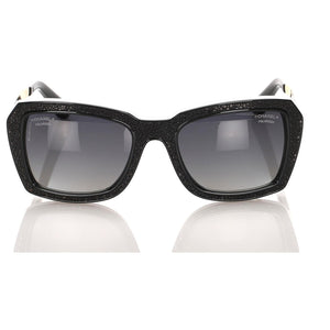 Chanel Black Square Tinted Sunglasses Polarized