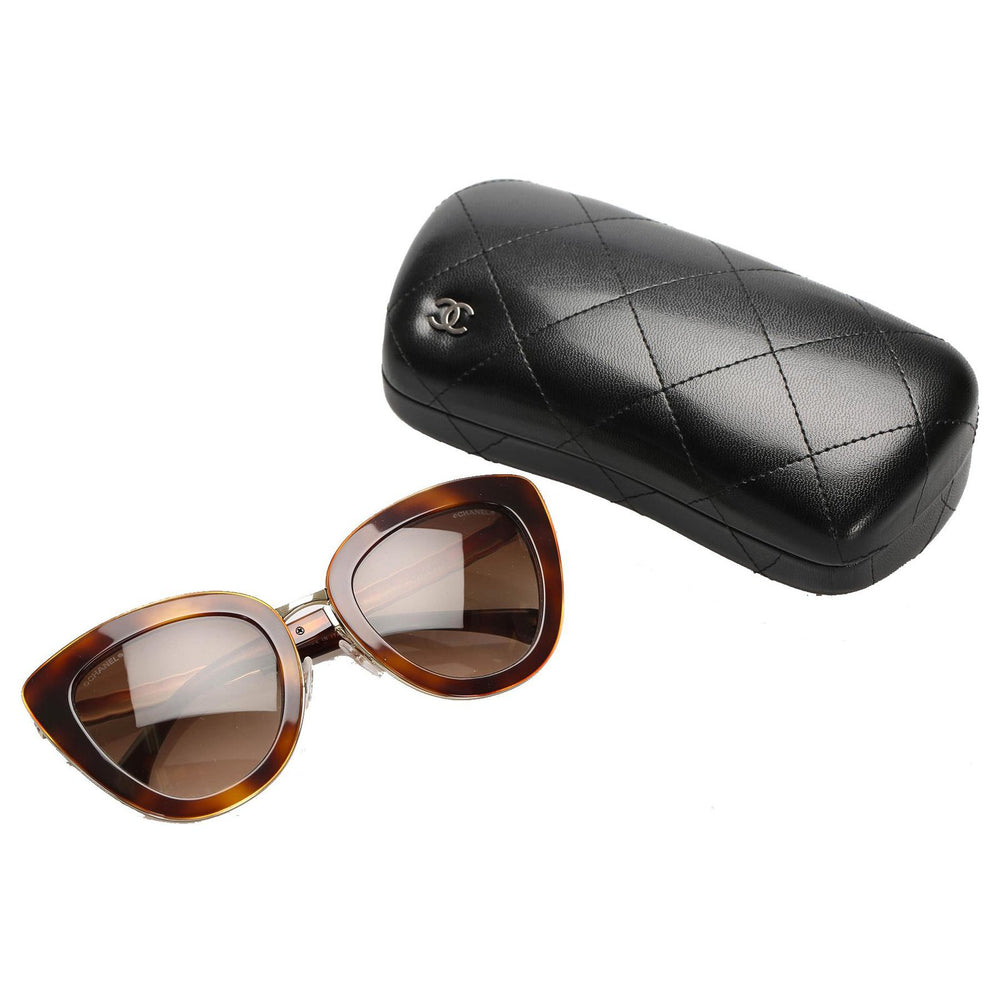Chanel Cat Eye Tinted Sunglasses