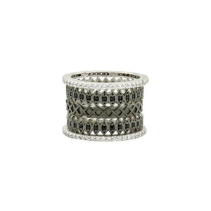 Freida Rothman Two-tone 5 Stack Ring