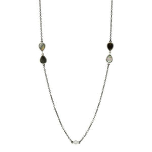 Freida Rothman MOP Long Station Necklace