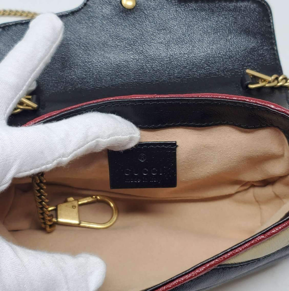 Load image into Gallery viewer, Gucci Super Mini Bicolor Marmont Crossbody Bag
