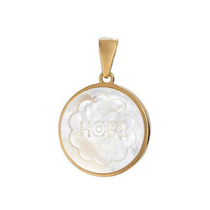 Load image into Gallery viewer, ASHA Hope Charm 14k Vermeil