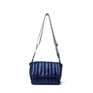 Load image into Gallery viewer, Think Royln Bar Bag in Shiny Navy